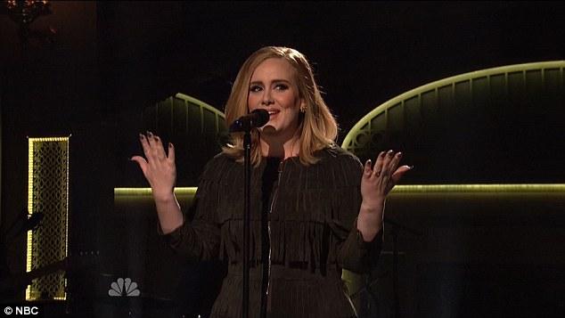 Adele SNL Metallic Nail