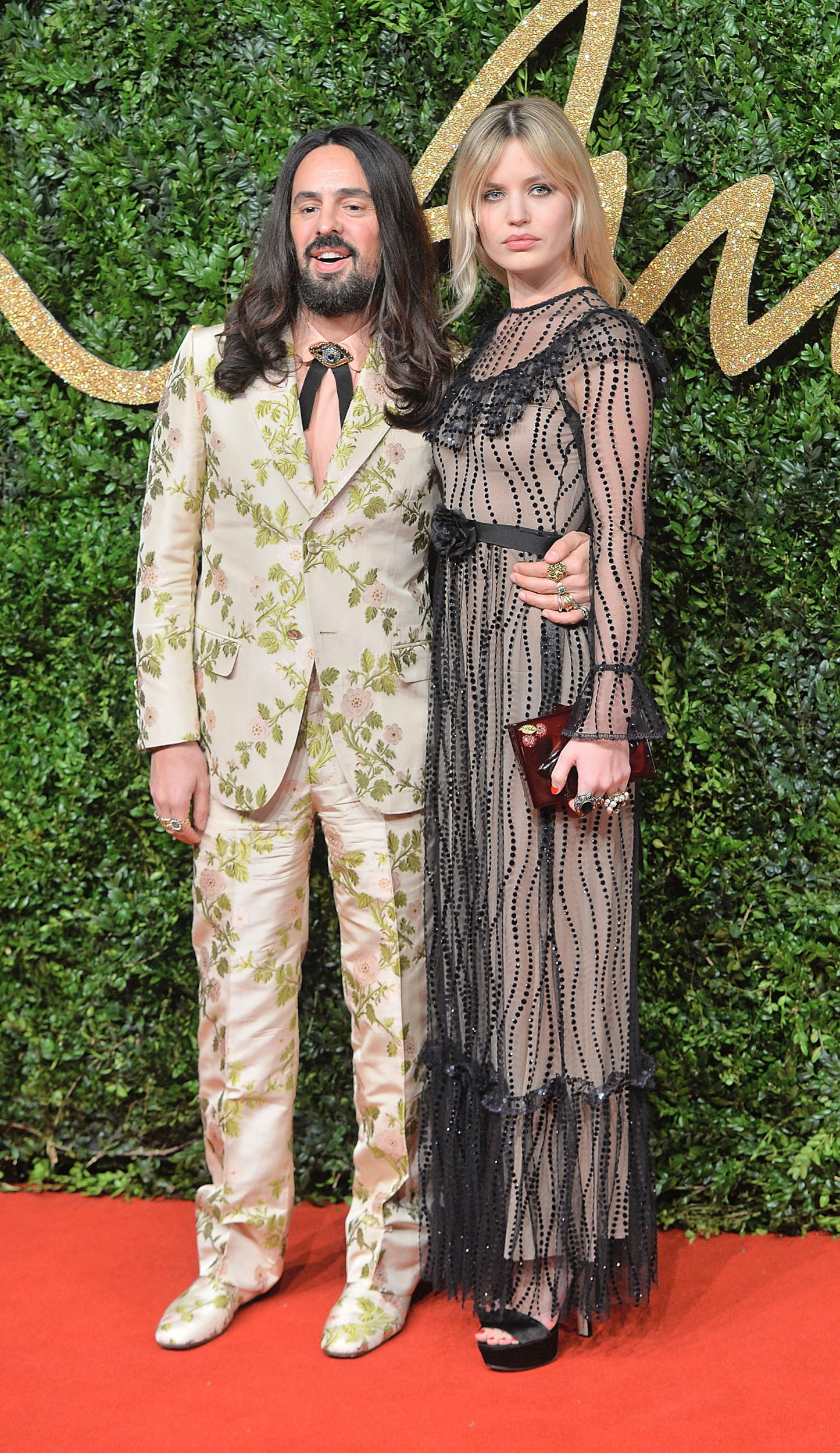 Alessandro Michele and Georgia May Jagger