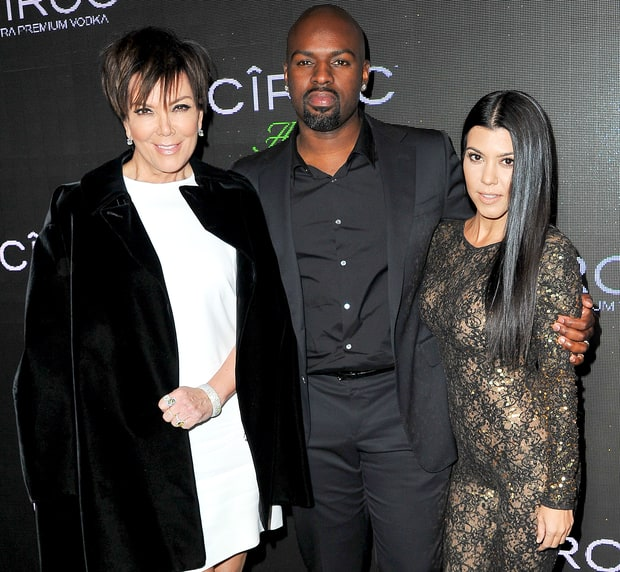 Kourtney Kardashian, Corey Gamble, and Kris Jenner