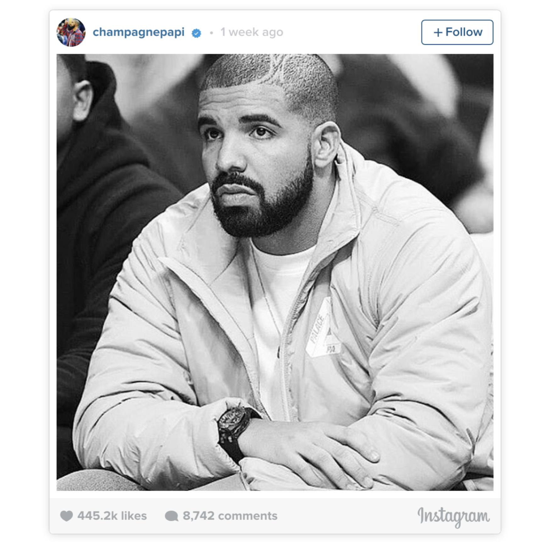 Drake on Palace Jacket