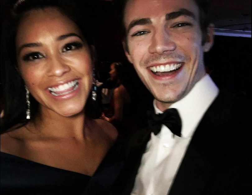Gina Rodriguez and Grant Gustin 2016 InStyle And Warner Bros. 73rd Annual Golden Globe Awards After Party (January 10, 2016).