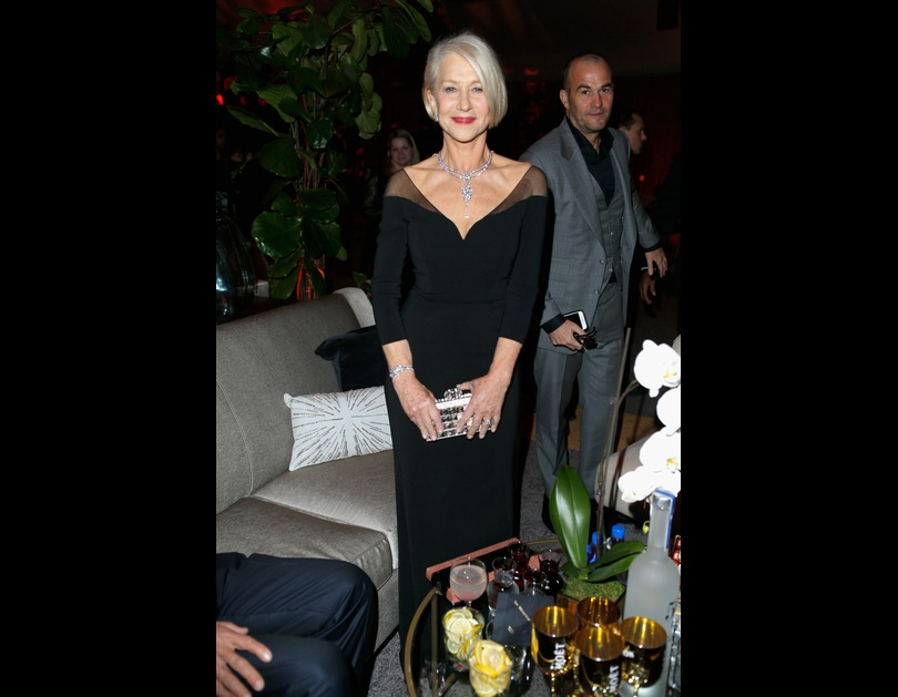 Helen Mirren attends The Weinstein Company And Netflix Golden Globe Party, sponsored by Marie Claire in Los Angeles, California (January 11, 2016).