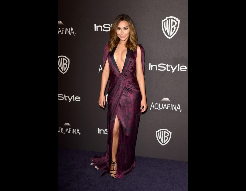 Naya Rivera attends the 2016 InStyle And Warner Bros. 73rd Annual Golden Globe Awards after-party in Los Angeles, California (January 11, 2016).