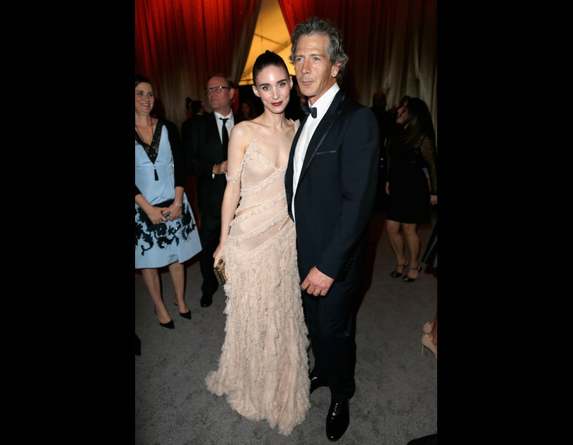 Rooney Mara and Ben Mendelsohn attend The Weinstein Company And Netflix Golden Globe Party, sponsored by Marie Claire in Los Angeles, California (January 11, 2016).